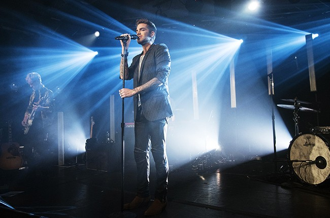 """Adam Lambert performs live in concert supporting his """"The Original High"""" Album Release Party"""