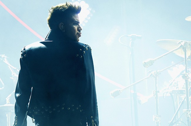 Adam Lambert performs with Queen at Madison Square Garden on July 17, 2014