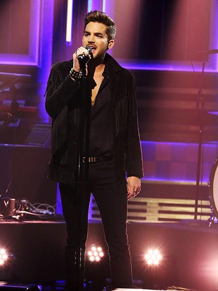 Adam Lambert performs on The Tonight Show Starring Jimmy Fallon? on June 15, 2015.
