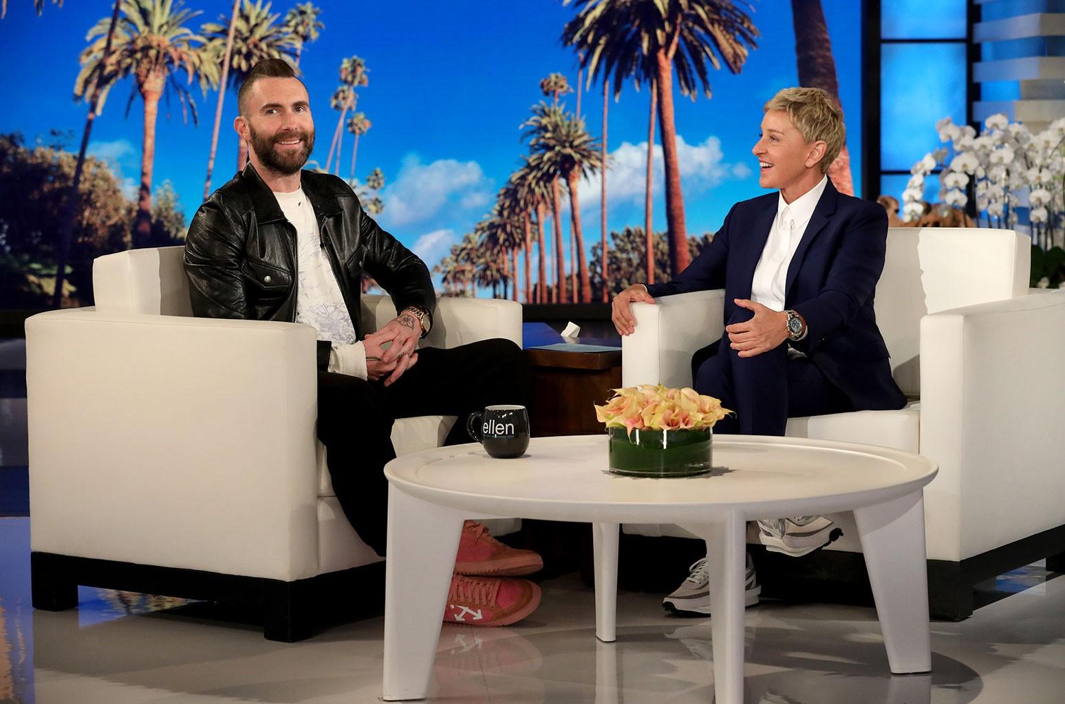 Adam Levine Ellen DeGeneres