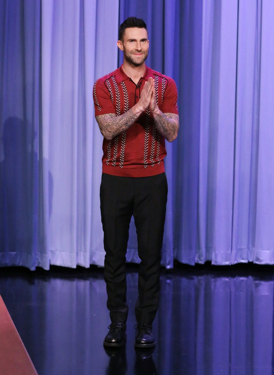 Adam Levine on 'The Tonight Show Starring Jimmy Fallon' on March 14, 2017.