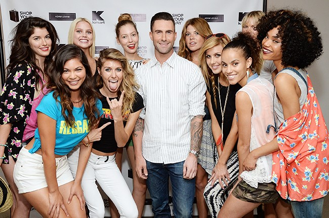 Adam Levine celebrates the launch of his new women's collection for Kmart