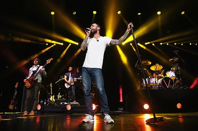 Adam Levine of Maroon 5 performs at Allphones Arena