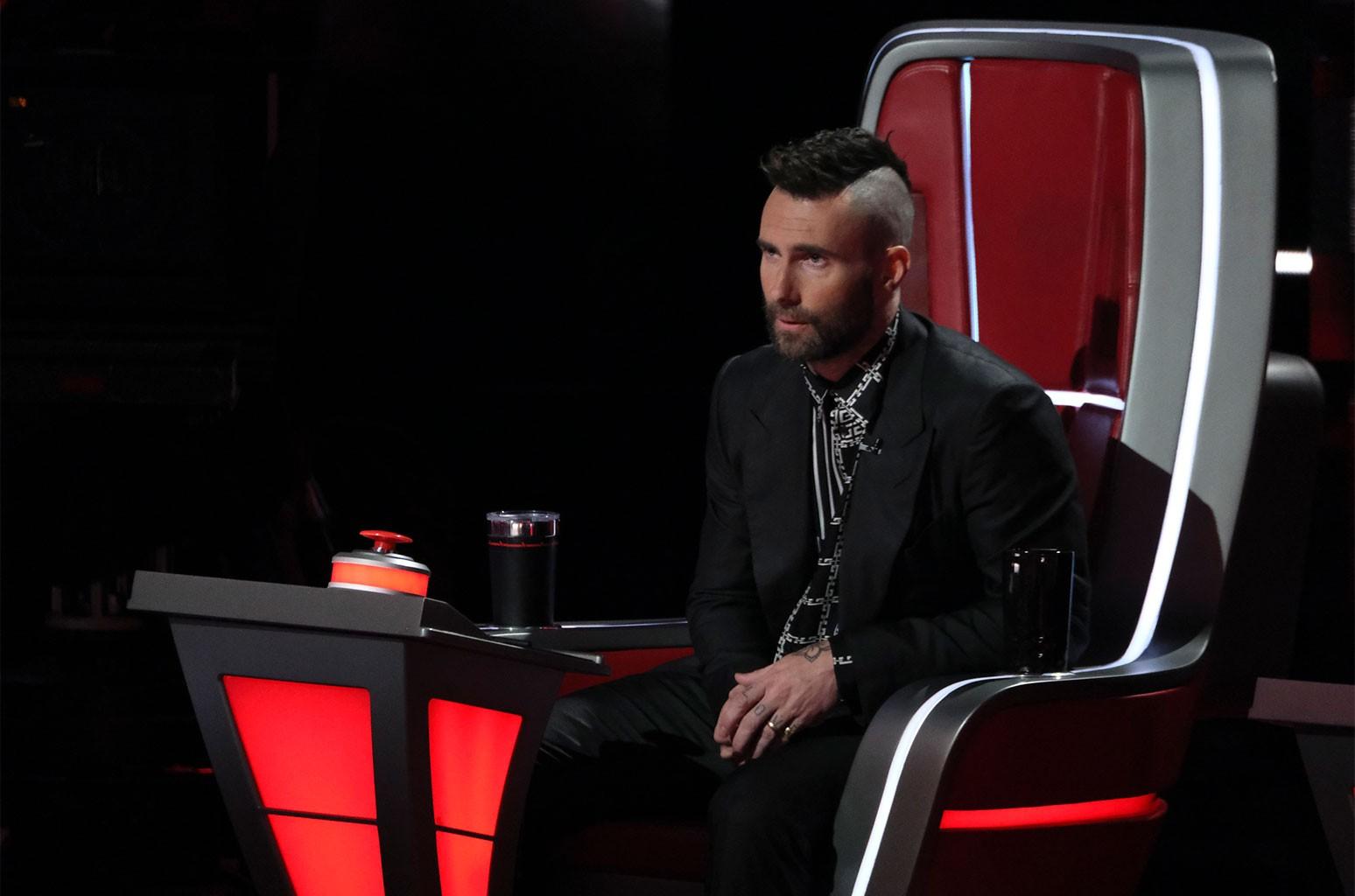 Adam Levine on The Voice.
