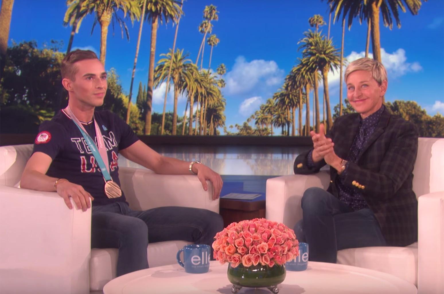Adam Rippon Ellen DeGeneres