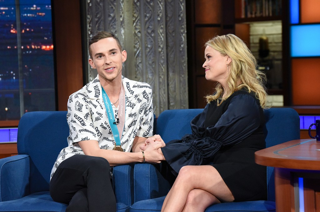 Adam Rippon and Reese Witherspoon