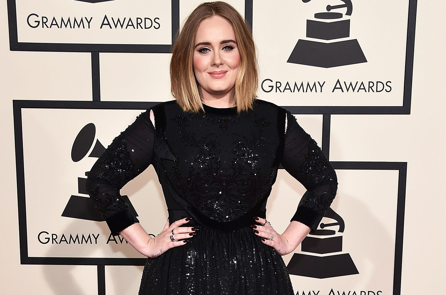 Adele attends The 58th Grammy Awards