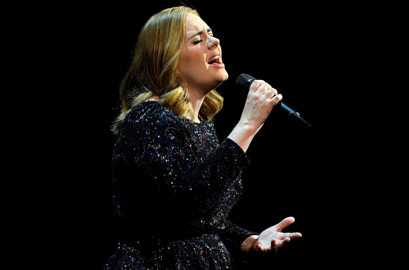 Adele performs in Antwerpen, Belgium.