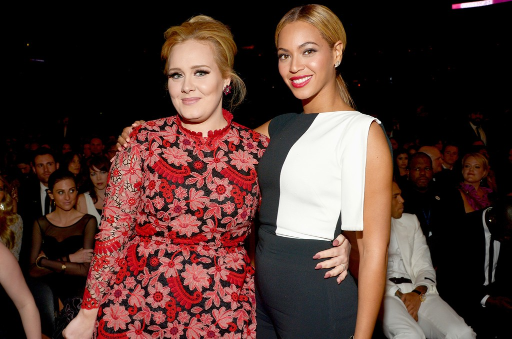 Adele and Beyonce attend the 55th Annual Grammy Awards