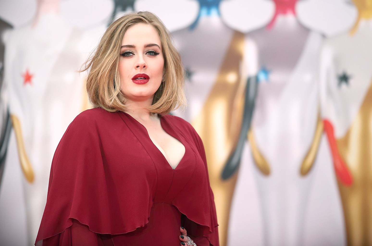 Adele attends the BRIT Awards 2016 at The O2 Arena on Feb. 24, 2016 in London.
