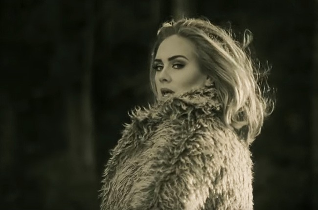 "Adele in the 2015 music video for ""Hello."""