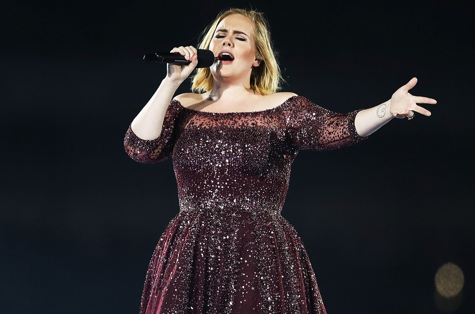 Adele performs in 2017.