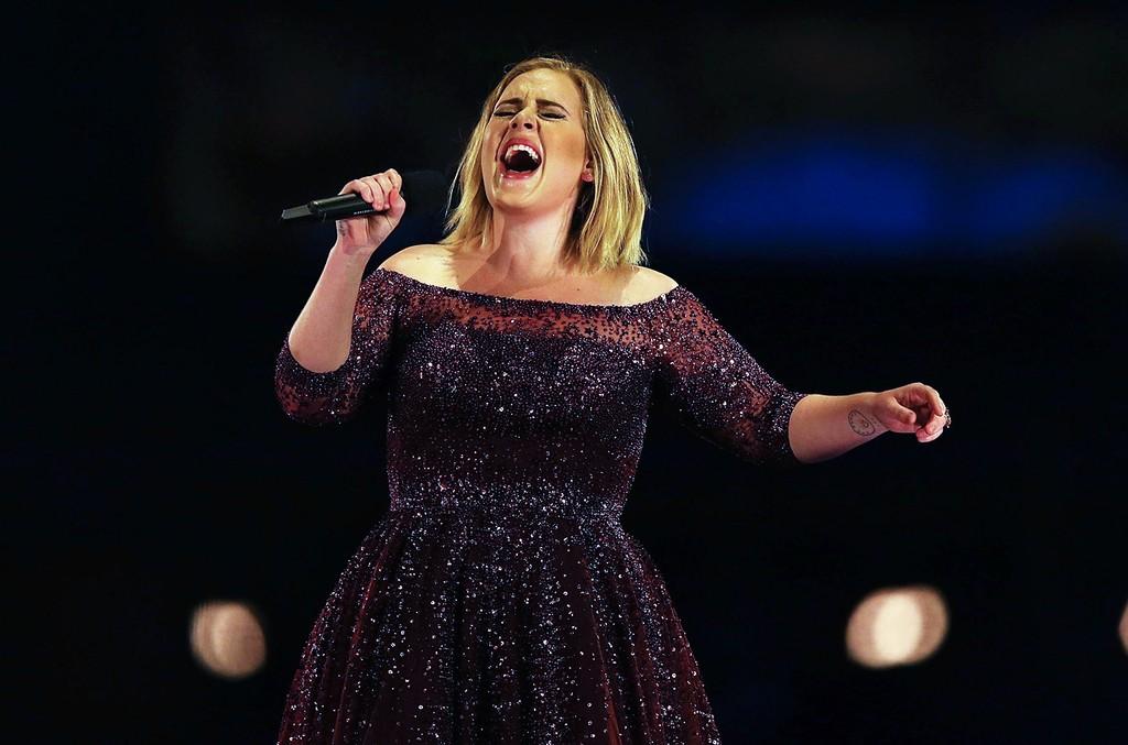 Adele performs at Domain Stadium on Feb. 28, 2017 in Perth, Australia.