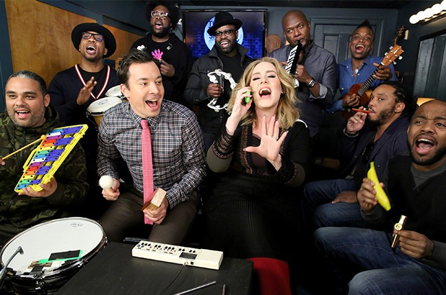 adele, the roots, jimmy fallon