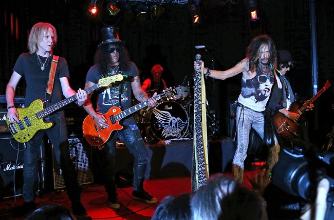 Aerosmith and Slash perform at the Whiskey a Go Go