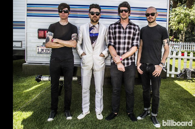 AFI hang out backstage during Coachella
