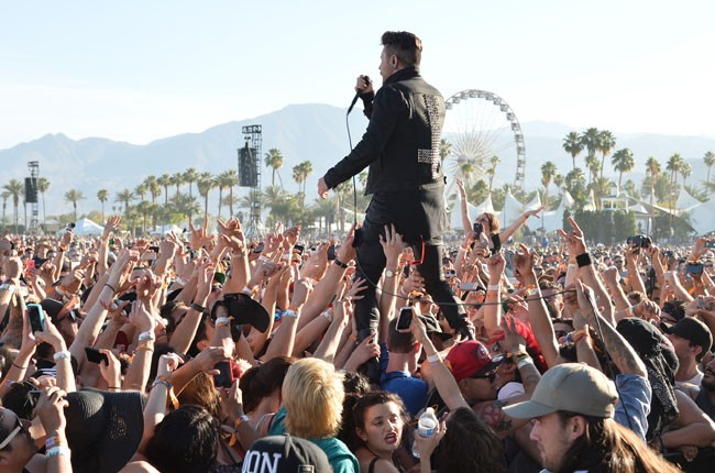 Davey Havok of AFI performs onstage during day 1 of 2014 Coachella