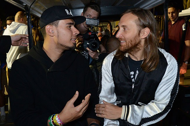 DJ/Producers Afrojack and David Guetta