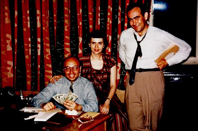 Ahmet Ertegun, Miriam Bienstock, Jerry Wexler