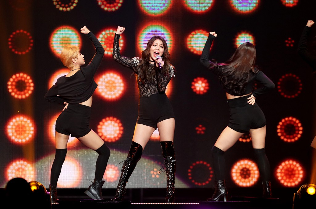 Ailee performs during KCON in New York City on June 24, 2016.