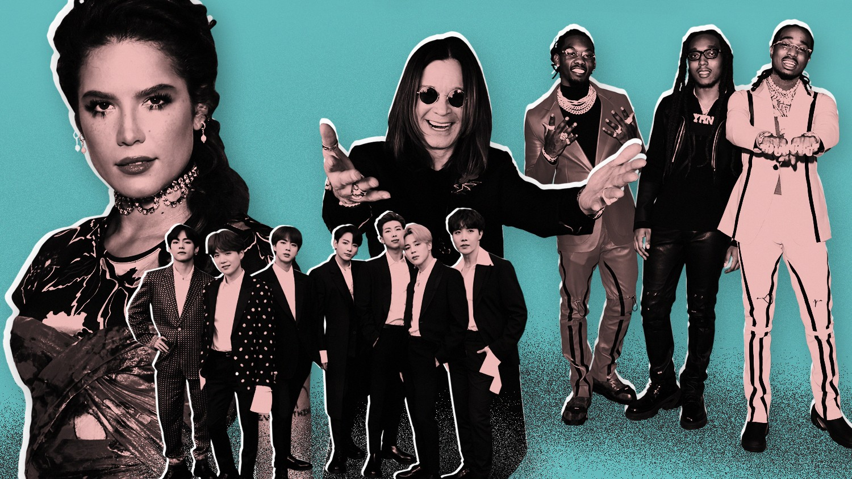 Halsey, BTS, Ozzy Osbourne and Migos