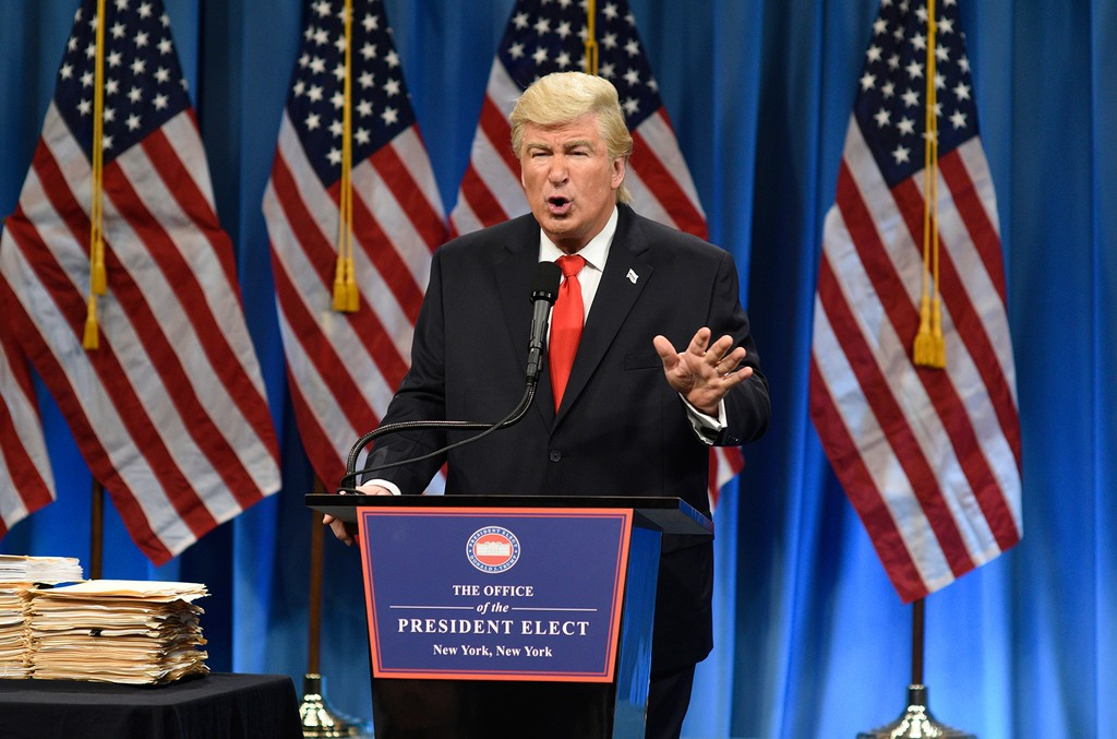 Alec Baldwin as President Elect Donald J. Trump during the Trump Press Conference Cold Open on 'Saturday Night Live' on Jan. 14, 2017.