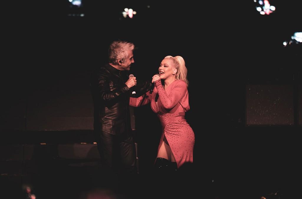 Alejandro Fernández and Christina Aguilera