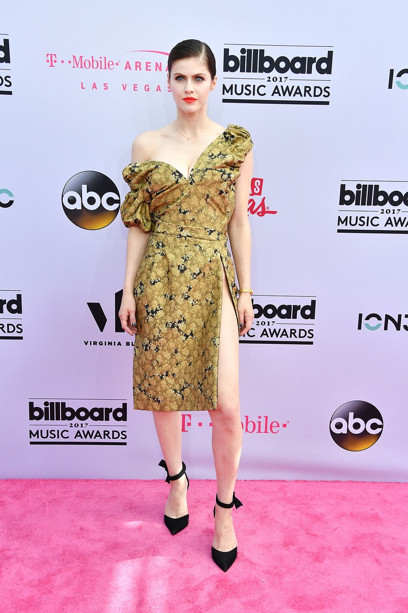 Alexandra Daddario attends the 2017 Billboard Music Awards at T-Mobile Arena on May 21, 2017 in Las Vegas.