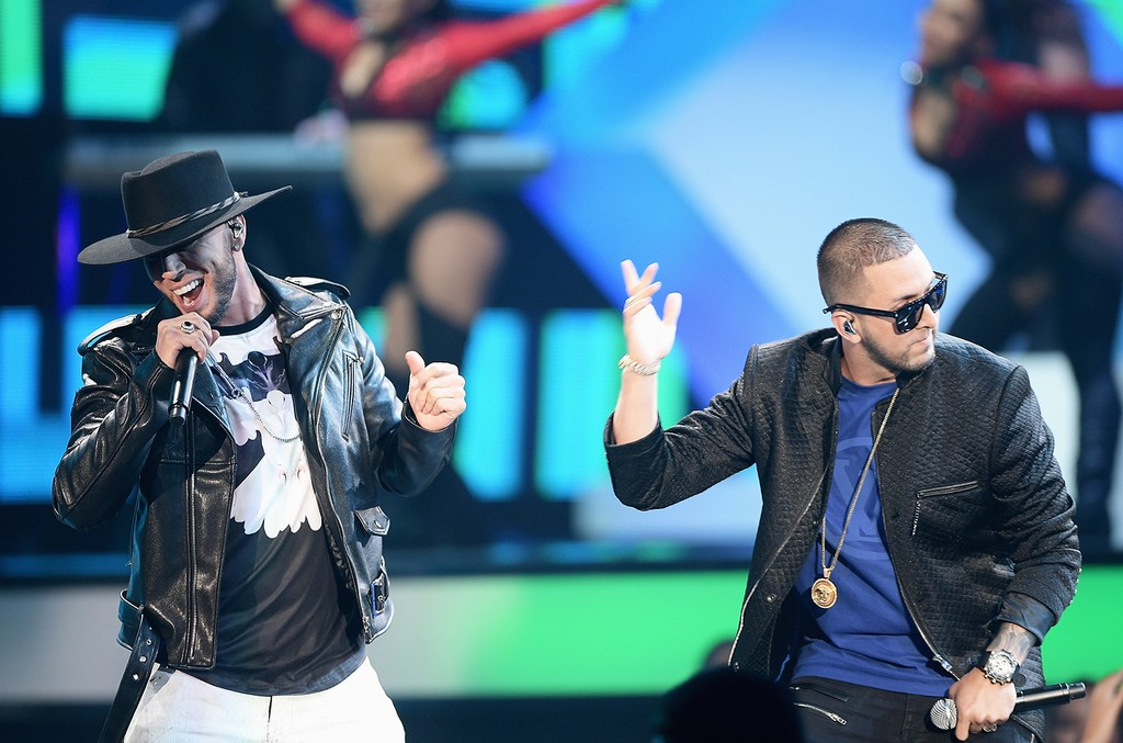 Alexis y Fido perform at the 2016 Billboard Latin Music Award