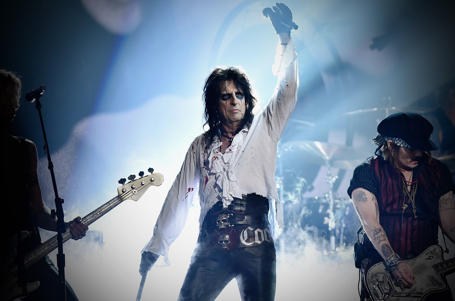 Alice Cooper performs during the 2016 Grammy Awards