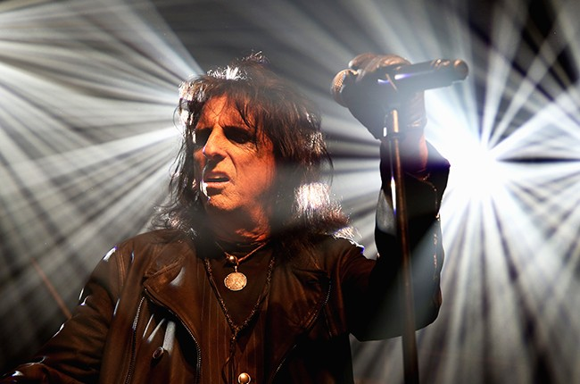 Alice Cooper performs at John Varvatos Detroit Store Opening Party