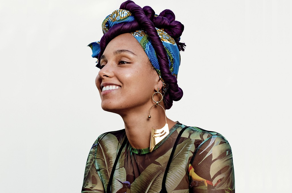 Alicia Keys in the February 2017 issue of Allure.
