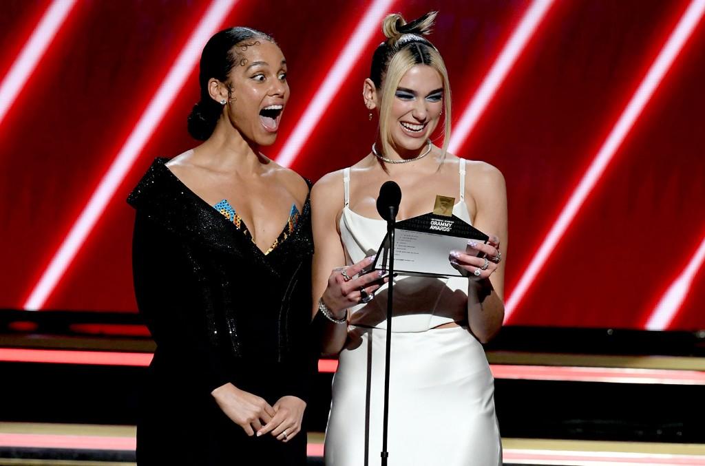 Alicia Keys and Dua Lipa