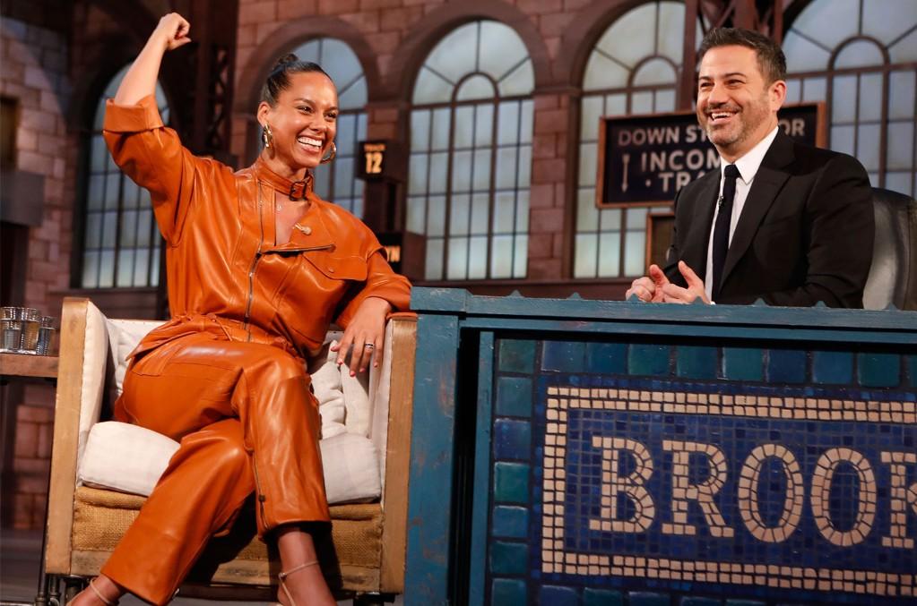 Alicia Keys on Jimmy Kimmel Live! on Oct. 21, 2019.