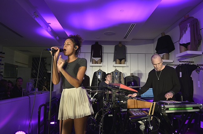 AlunaGeorge perform at the opening of Kit and Ace
