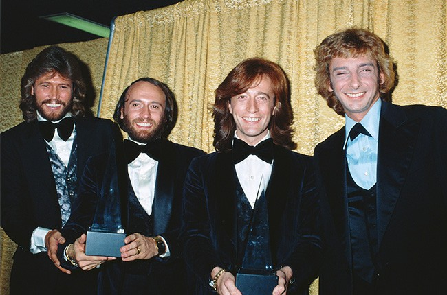 The Bee Gees and Barry Manilow in 1979