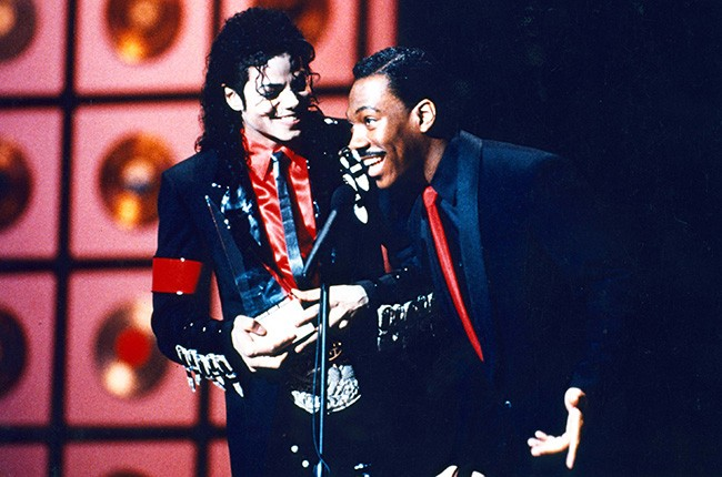 Michael Jackson & Eddie Murphy in 1989