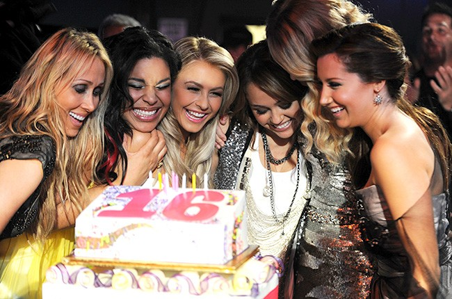 Miley Cyrus and Friends in 2008