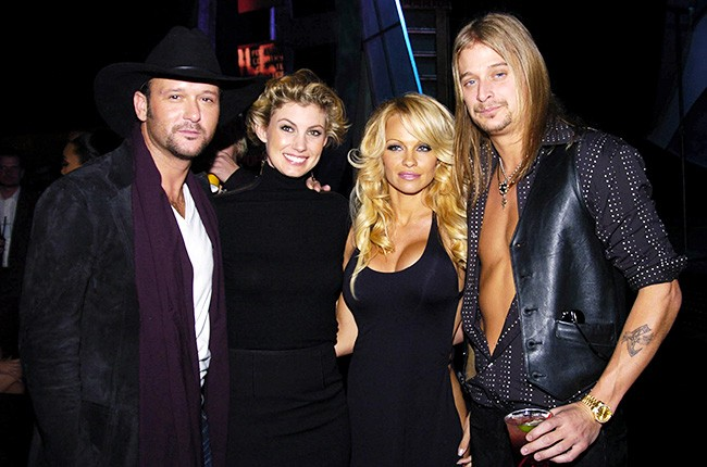 Tim, Faith, Pam and Kid Rock in 2003