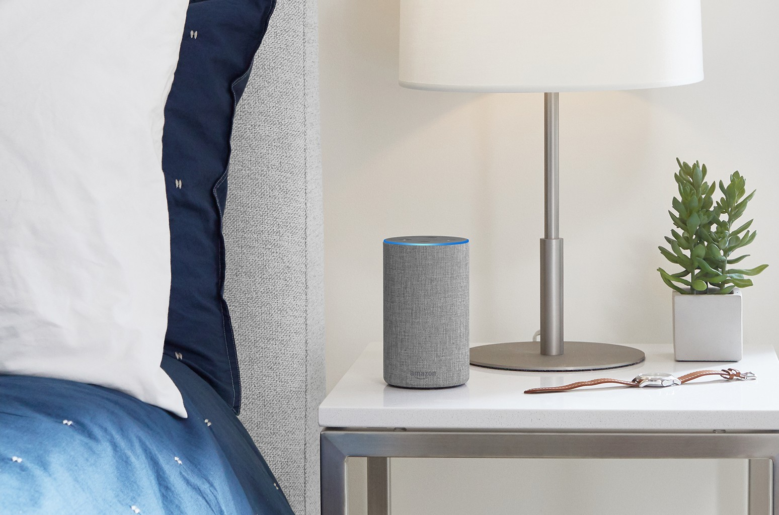 Amazon Echo in Light Gray