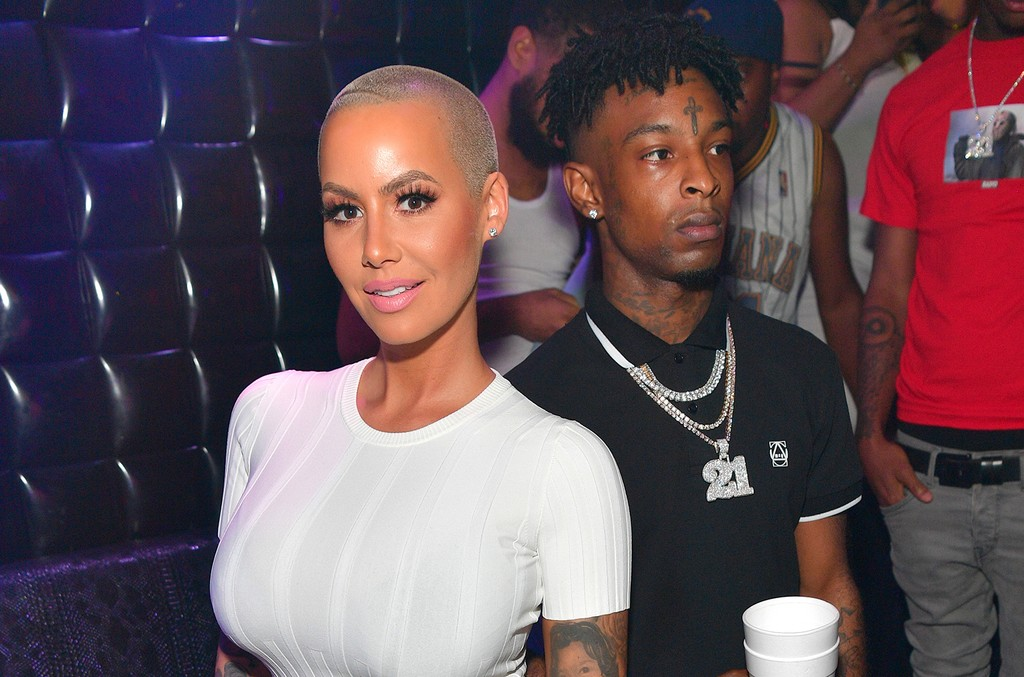 Amber Rose and 21 Savage attend a Party Hosted By Amber Rose at Medusa Lounge on July 23, 2017 in Atlanta.