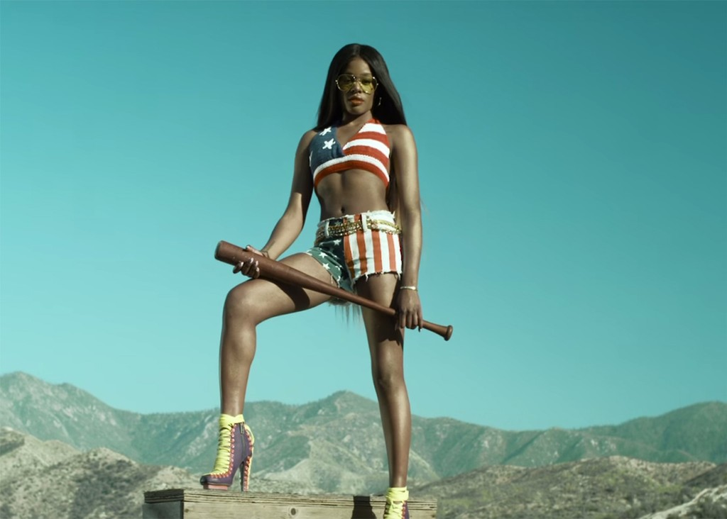 "Azealia Bank in the video for ""Liquorice"""