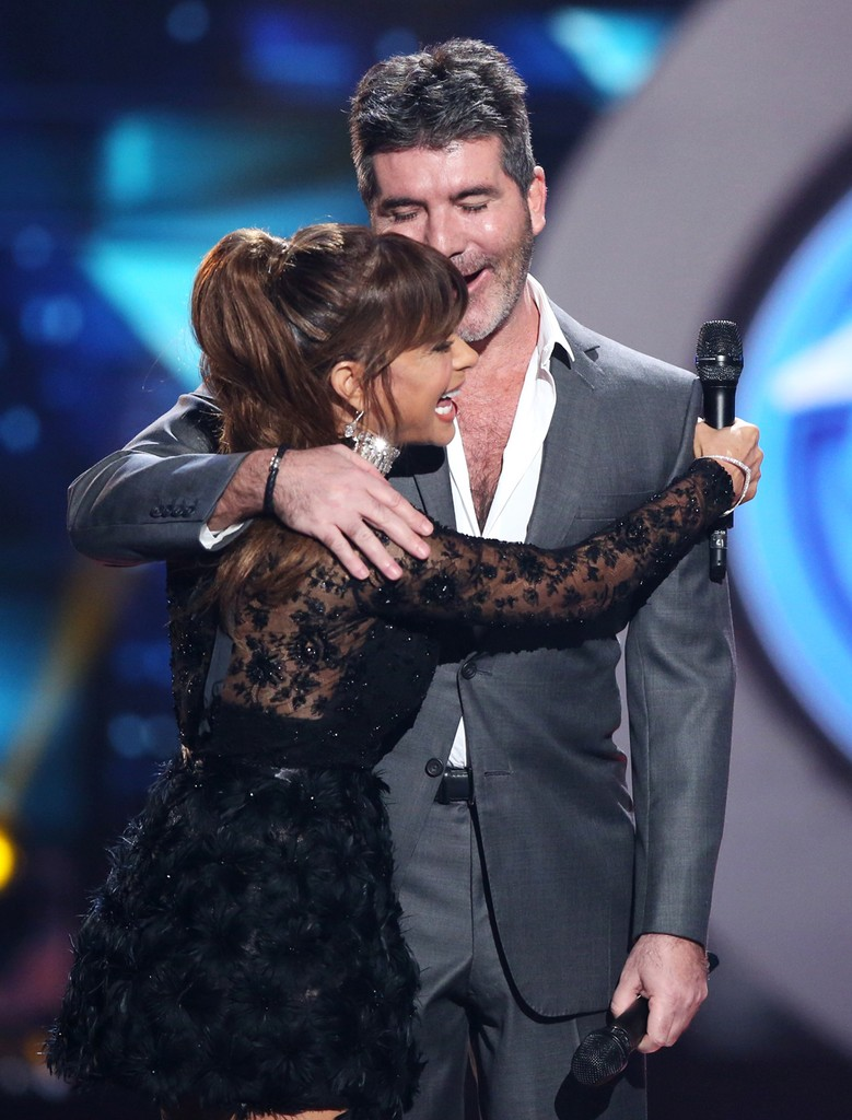 Paula Abdul & Simon Cowell During the 'Idol' Finale