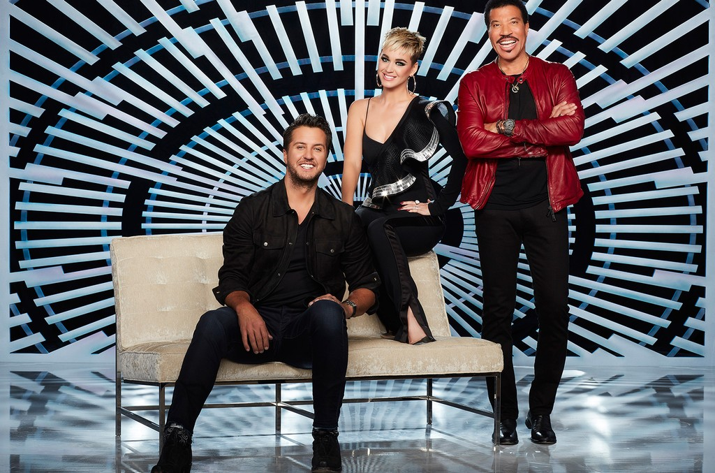 Luke Bryan, Katy Perry and Lionel Richie on American Idol.