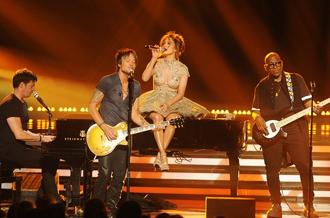 Harry Connick, Jr., Keith Urban, Jennifer Lopez and mentor Randy Jackson