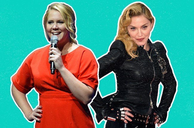 Amy Schumer and Madonna