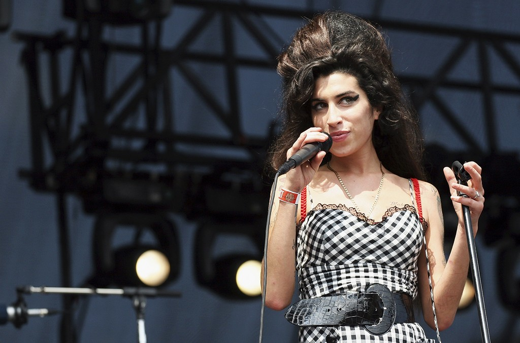 Amy Winehouse performs at Lollapalooza in Grant Park on Aug. 5, 2007 in Chicago.