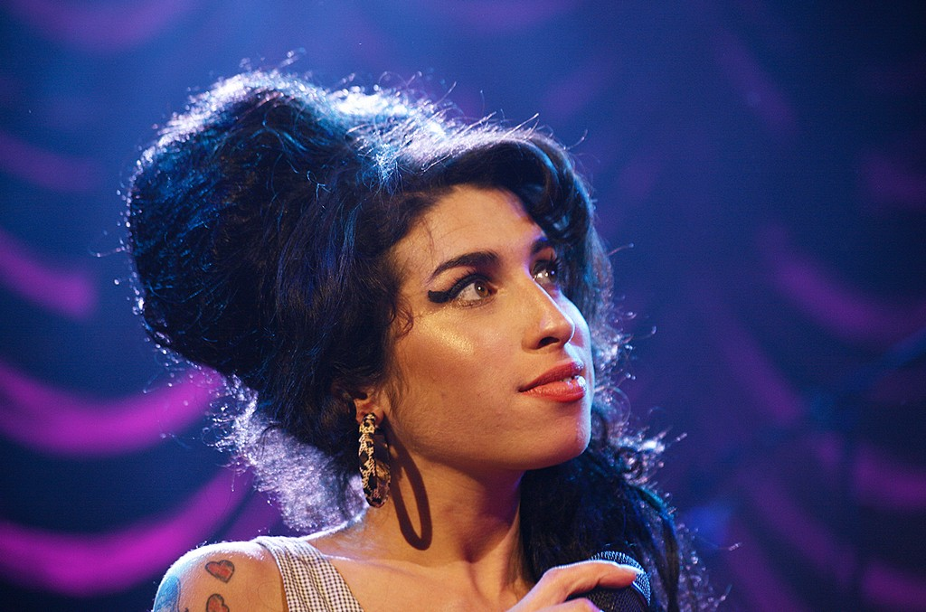 Amy Winehouse performs in London.