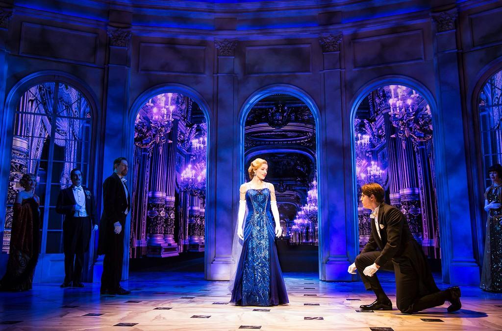 Christy Altomare, Derek Klena and the cast of Anastasia on Broadway.