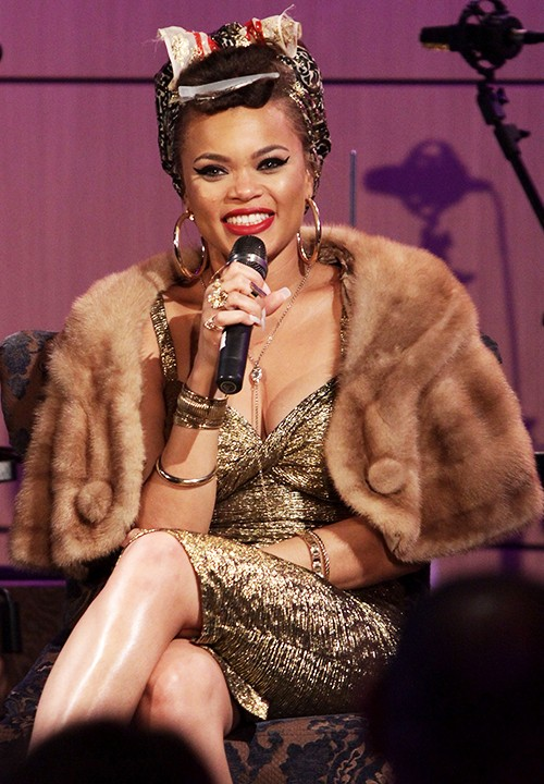Andra Day speaks onstage at Spotlight: Andra Day at The GRAMMY Museum